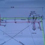 Der Plan mit dem Verlauf der Versorgungsleitungen
