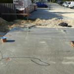 Die Oberfläche der Bodenplatte