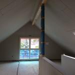 Fertig beplanktes Dachgeschoss