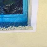 Fenster mit weißen Faschen