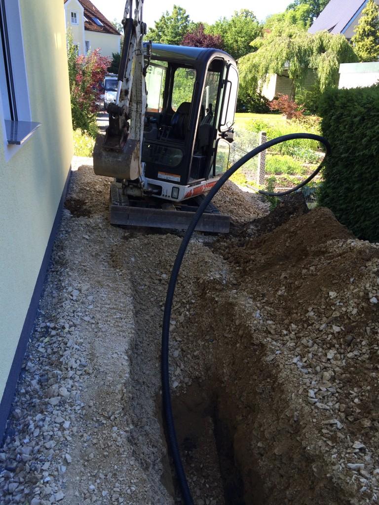 Wasserleitung wird verlegt