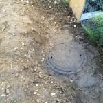 Wiederentdeckt: Revisionsschacht für Wasserkanal