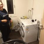 Waschmaschine und Trockner laufen